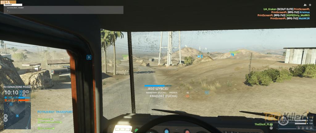 Zdobywanie punktów w Hotwire polega na jak najszybszej jeździe pojazdem.