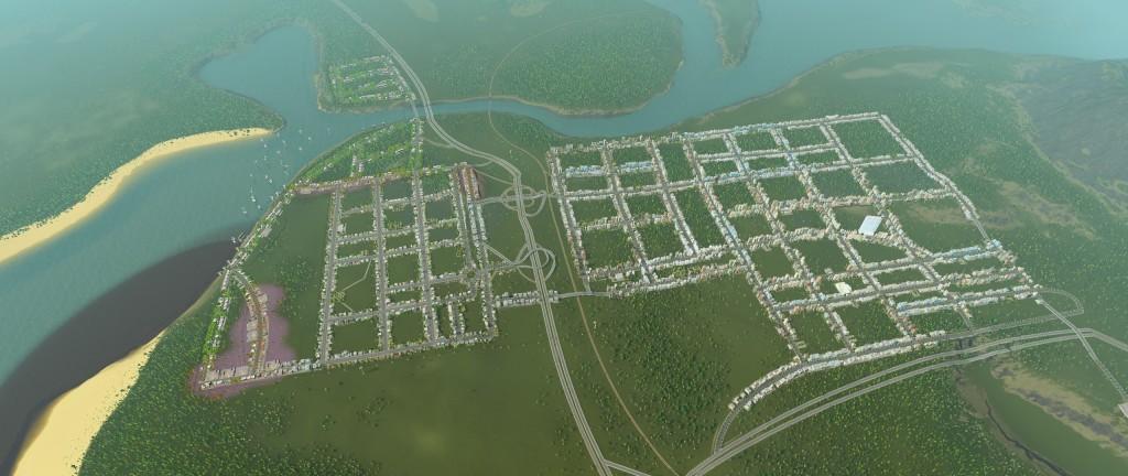 W grze mamy dużo możliwości tworzenia miast ;)