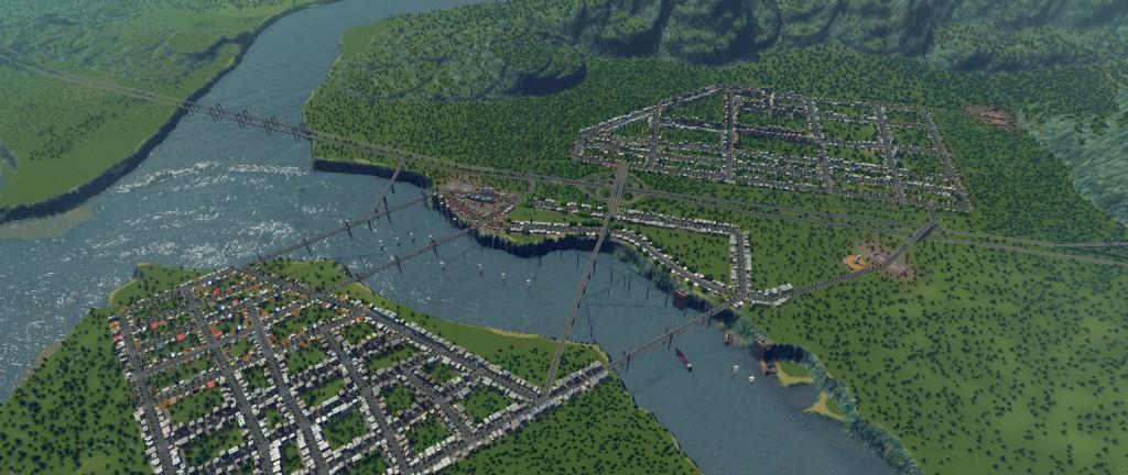 Trudny teren czasem pomaga w budowie naprawdę fajnych miejscowości