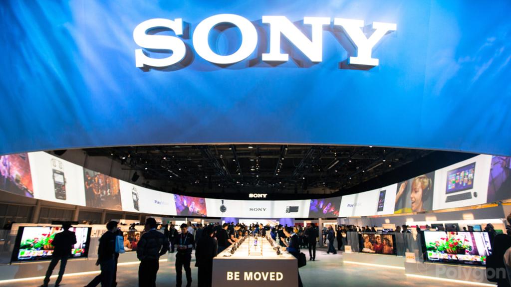 Przed wejściem na konferencję Sony