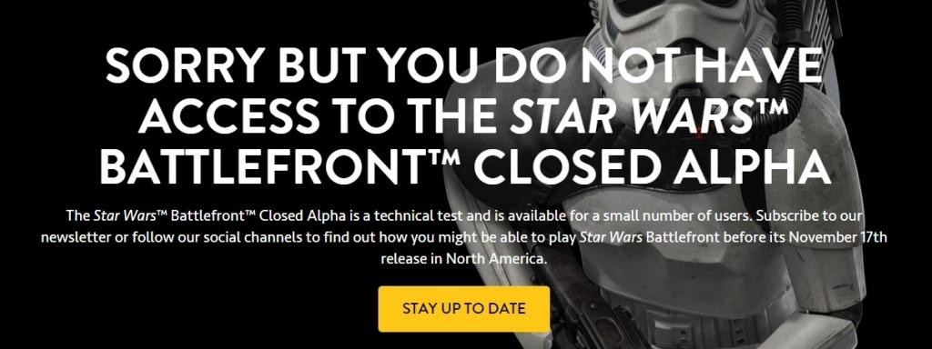 Star Wars Battlefrone Beta