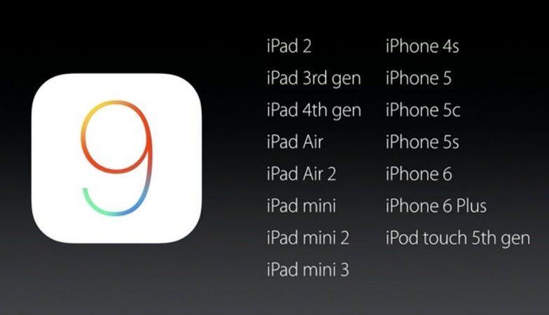 iOS 9 zapowiedź kompatybilność
