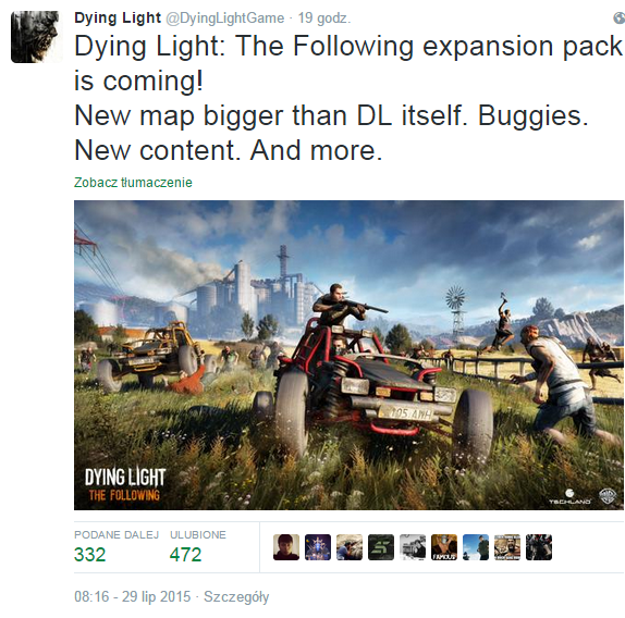 Dying Light The Following Twitter