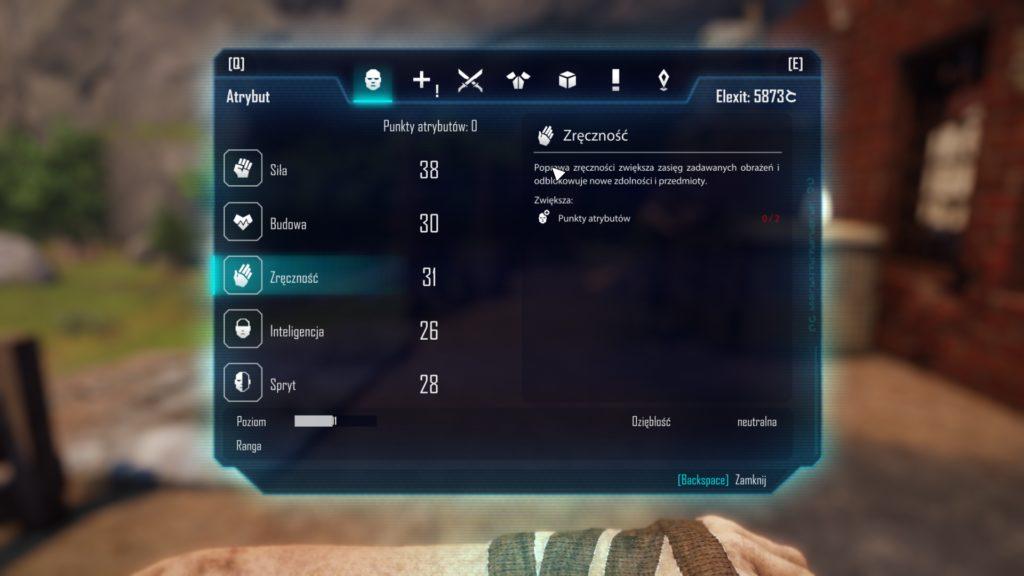 Wygląd umiejętności postaci na poziomie 11.